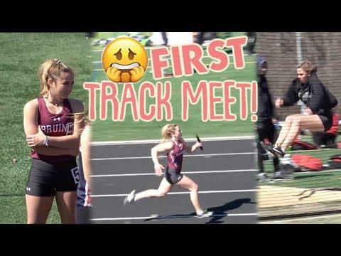 It's Katie's First High School Track Meet