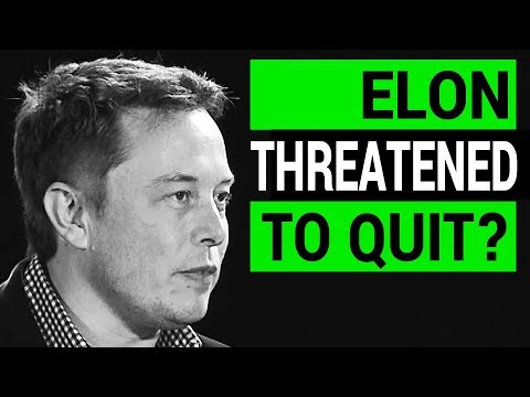 Elon Musk Threatened to Quit Tesla over SEC Settlement