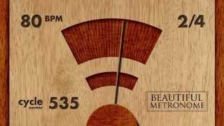 80 BPM 2/4 Wood Metronome HD
