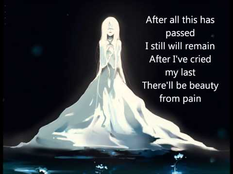 Beauty from pain - Nightcore with Lyrics