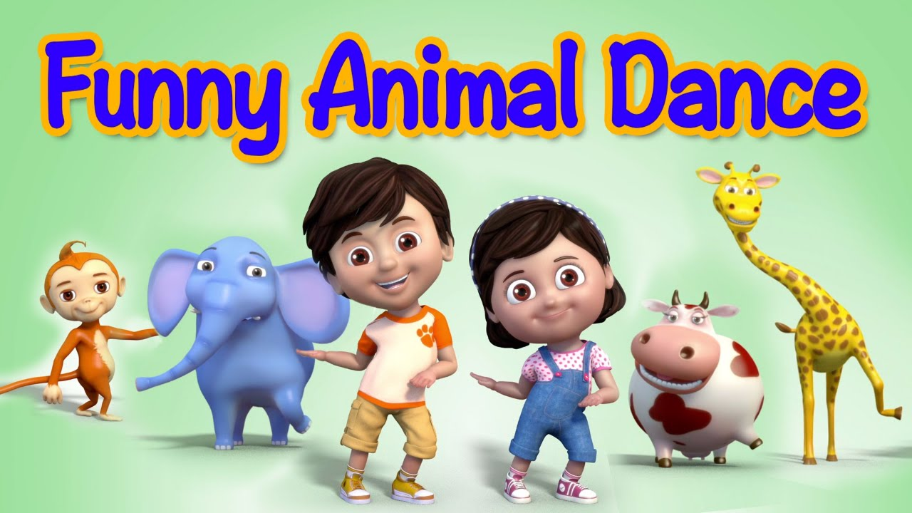 Funny Animals Dance Video For Children Kids Rhymes Children Rhymes Youtube