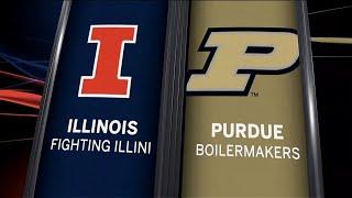Illinois at Purdue - Football Highlights