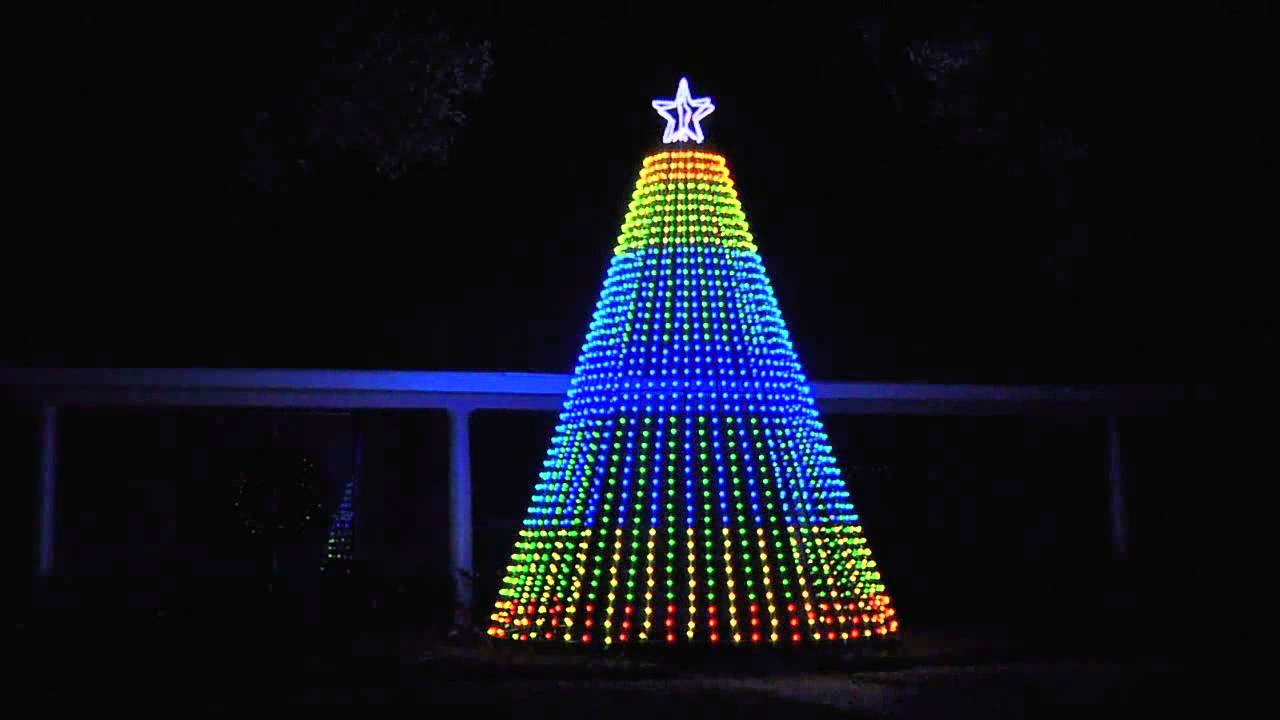albero di natale a led animato youtube On alberi di natale luminosi da esterno