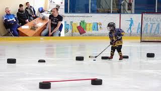 Хоккей дети   тренировка на льду  2018 02 25 Шоломицкий Артур