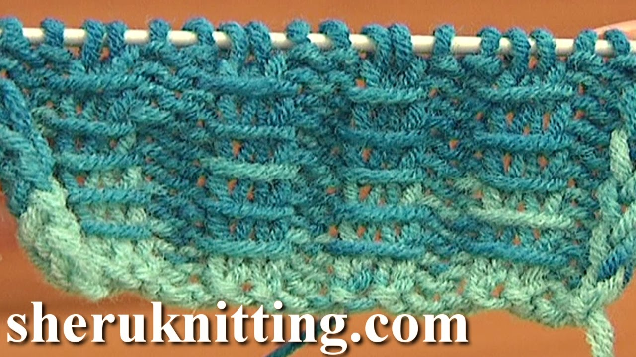 Knitting Rib Stitch For Beginners : Two by ribbing with bars knitting tutorial free