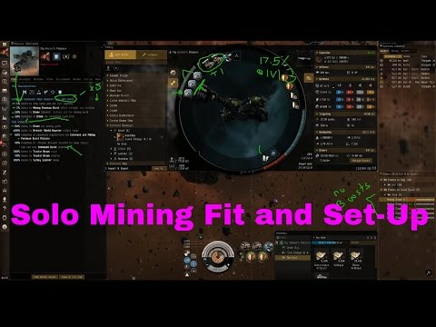Eve Online- Solo Mining W/ Fleets Boosts