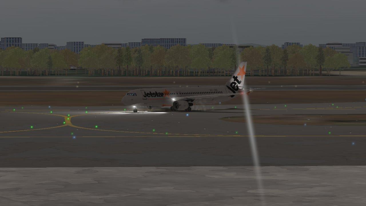[RFS Real Flight Simulator#262]Jetstar A320 Medan-Singapore {1h5min}
