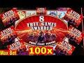 Buffalo STAMPEDE Slot Machine Max Bet BONUS  ★BIG WIN★ w/Ton of Retriggers | Live Slot Play