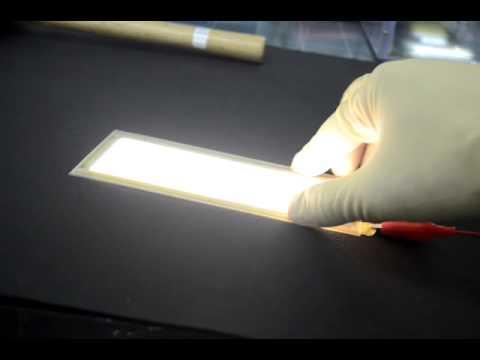 Lg Chem Flexible Oled Lighting Panel Youtube