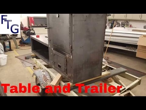 Insulated Reverse Flow BBQ Smoker Trailer Build Part 7
