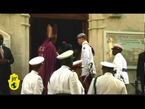 Prince Harry Visits Caribbean Islands and Attends Church in Nassau in the Bahamas