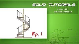 SOLIDWORKS Spiral Staircase Ep.1 / Scala a Chiocciola Ep.1