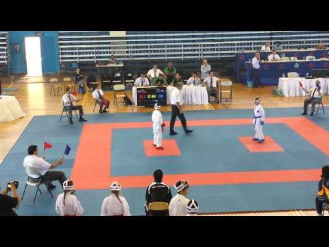16th Oceania karate Championships 2014 Team kumite 10-11yrs mixed NORBU Law(KNZ) vs AUS