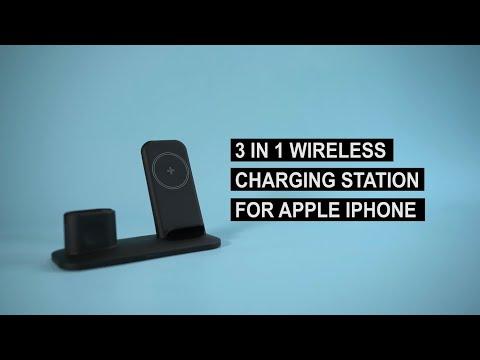 Ladestation für Apple Watch, Apple iPhone und Apple AirPods  // Apple Ladestation 2019//