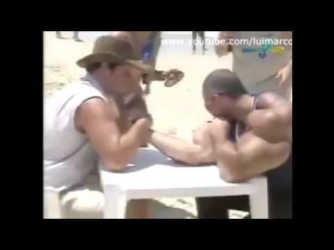 SYNTHOL MAN VS NON LIFTING GUY ARM WRESTLING !!!!