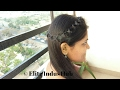 Cute hairstyle for college/office |Easy Looped Head chain | 2 Minute Party Hairstyle