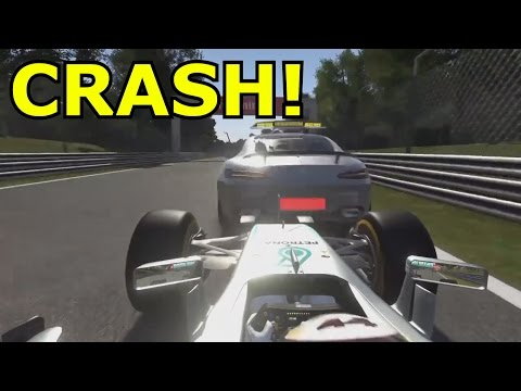 CRASHING INTO THE SAFETY CAR! (F1 2016 Crash Compilation)