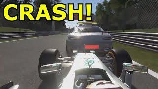 crashing into the safety car f1 2016 crash compilation