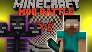 Minecraft: HEROBRINE VS. WITHER - Minecraft Mob Battles - Arena Battle - Polkz Mod