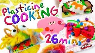 #Plasticine Cooking For Kids. (Best recipes)26 min.