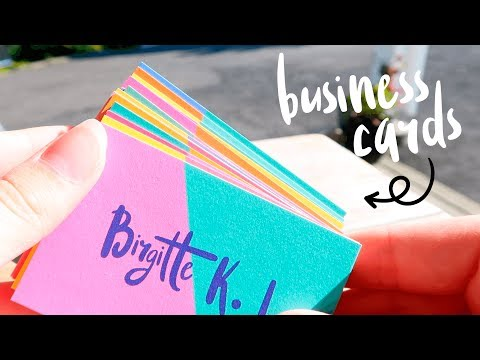 Freelance Illustration | Beautiful Business Cards & Working on Side Projects
