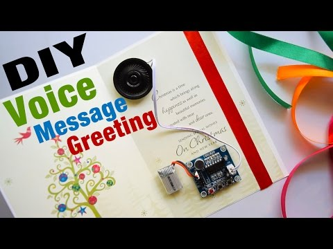 🎁 How to Make Musical Greeting Card  Voice Recording Greeting Cards