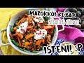 Marokkói kebab, isteni sárgarépás körettel