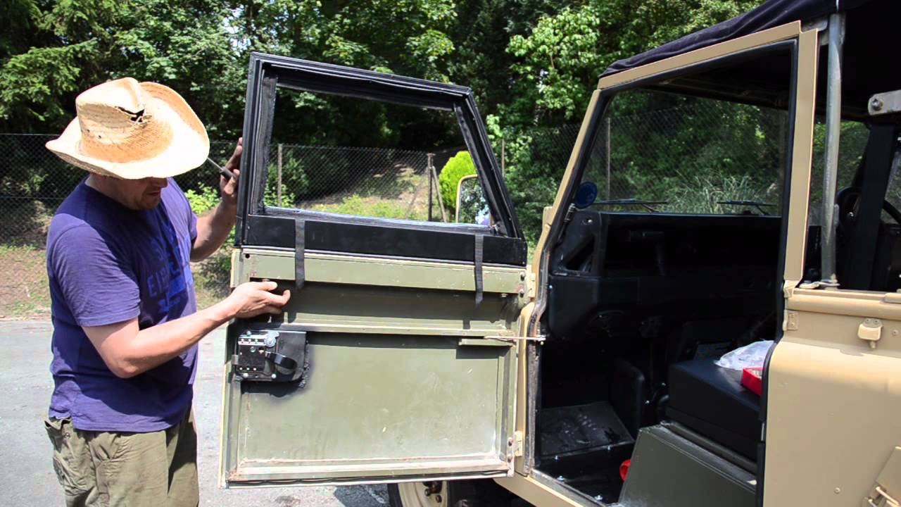 Fitting Land Rover Defender Canvas Doortops Youtube