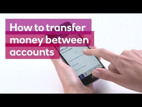 How to transfer money between accounts