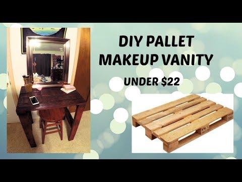 DIY PALLET Makeup Vanity   CHEAP!