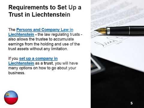 Establish a Trust in Liechtenstein