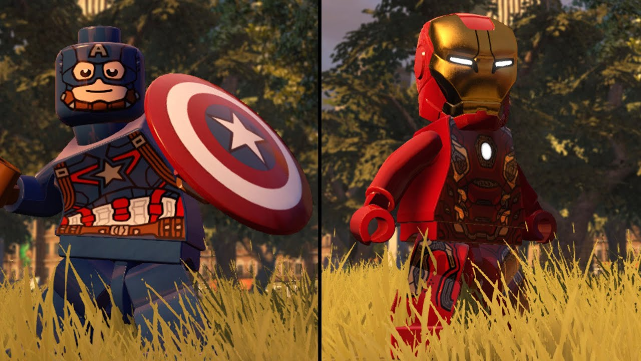 lego marvel's avengers - captain america vs iron man - coop fight