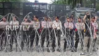 Video Indonesia: Protests hit Jakarta's streets after governor Ahok jailed for blasphemy download MP3, 3GP, MP4, WEBM, AVI, FLV Oktober 2017