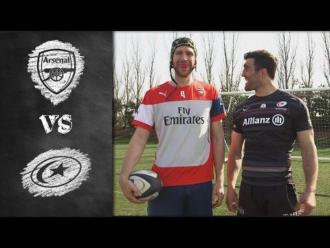 Arsenal stars take on Saracens!