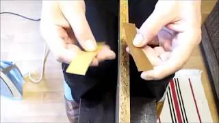 Oklejanie brzegów płyty meblowej - półki żelazkiem