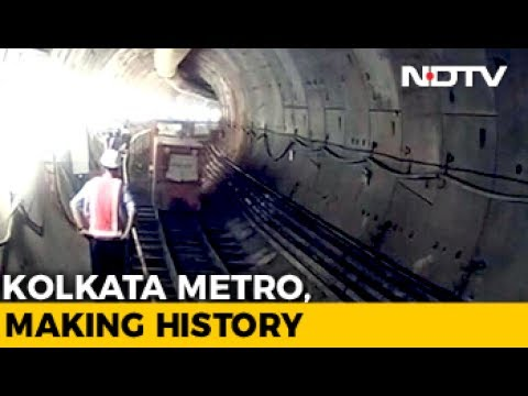 How Kolkata Is Building Tunnel Under Water For 60-Second Metro Ride