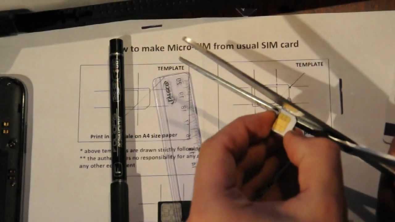 micro sim herstellen