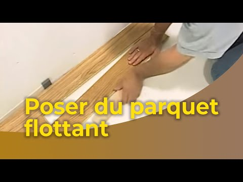 la pose du parquet flottant youtube. Black Bedroom Furniture Sets. Home Design Ideas