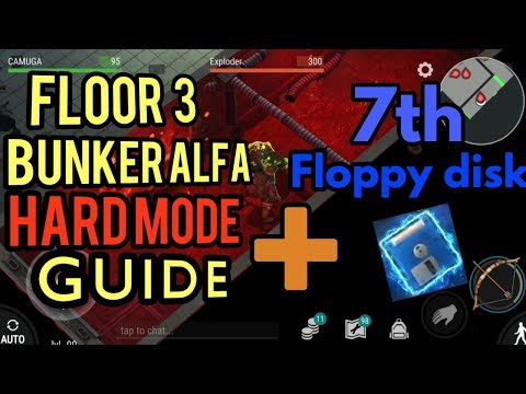 Bunker Alfa 3 floor HARD MODE GUIDE + 7th Floppy disk Amazing loot l Last day on earth