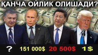 Президентлар Канча ОЙЛИК Олади - ? ..Талабларга Биноан
