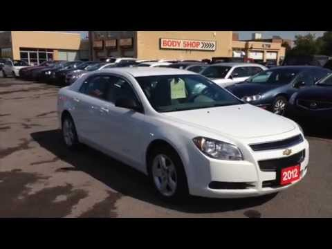 2012 Chevy Malibu For Sale >> Used 2012 Chevrolet Malibu Ls White For Sale Kingston Ontario