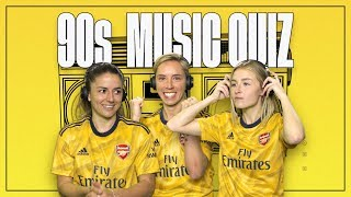 NAME THE TUNE | 90s music quiz with van de Donk, Williamson & Nobbs | Arsenal Women