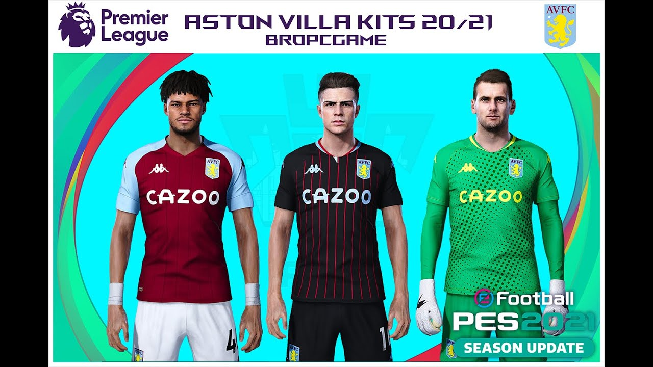 Aston Villa Kits 20 21 E Football Pes2021 Season Update Youtube