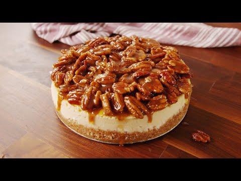 How to Make Pecan Pie Cheesecake | Recipe | Delish
