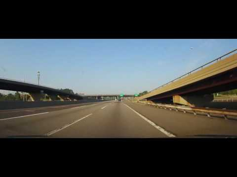 Driving on New Jersey Turnpike from Elizabeth to Delaware