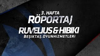 BJK– AUR maçının ardından kazanan takımın nişancısı Ruvelius ve des...
