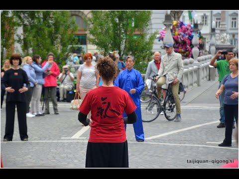 Flash Mob - Taijiquan & Health qigong - Ljubljana, sLOVEnia