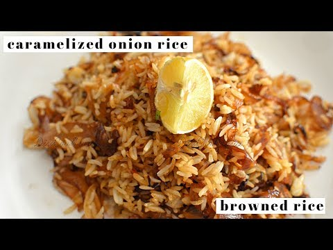 Caramelized Onion Rice Recipe | Browned Rice | Easy Leftover Variety Rice Recipe |DiviCookHouse