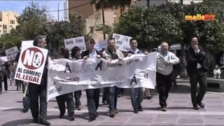Demo gegen Patateros und Helmuts in El Arenal am Ballermann