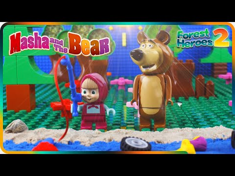 ♥ Masha and the Bear SUPERHEROES Saving Animals (Episode 8) Stop Motion Toys Cartoon from YouTube · Duration:  3 minutes 10 seconds